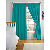 Hamilton McBride Thermal Backed Pencil Pleat Curtains - Teal