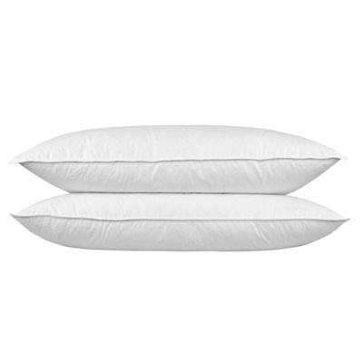 Homescapes Goose Feather Down King Size 3 ft Pillow Bolster 19 x 36