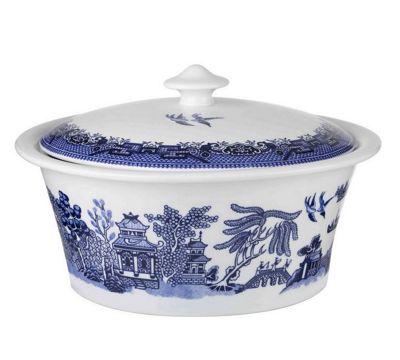 Churchill Blue Willow 2.5L Casserole Dish