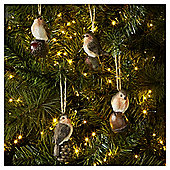 Robin Christmas Tree Decorations, 4 pack