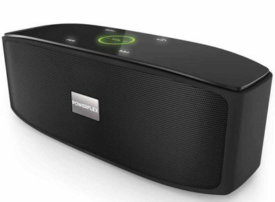 PowerFlex Black Stereo Bluetooth Portable Speaker HD Sound