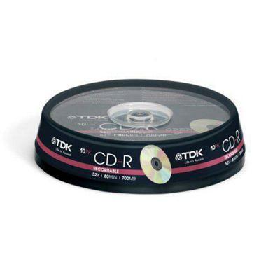 TDK CD-R Cakebox 700MB 52X 10 Pack