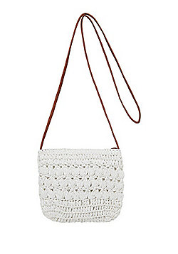 F&F Glitter Straw Cross-Body Bag