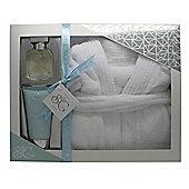 Style & Grace Puro Ultimate Comfort Robe Gift Set 150ml Body Lotion + 50ml EDP + One Size Luxury Bath Robe