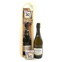 30th Birthday Cake And Wine Gift Box
