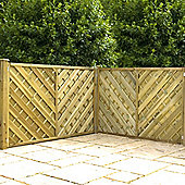 Mercia Chevron Weave Fence Panel 4ft Pressure Treated