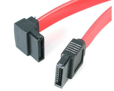 StarTech.com SATA to Left Angle SATA Serial ATA Cable - Serial ATA cable -