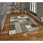 Brooklyn Edgy Squares Rug - Green