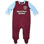 West Ham United Baby Sleepsuit - 2016/17 Season - Claret & Blue