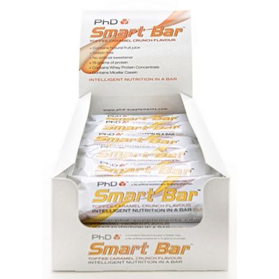 PhD Nutrition Smart Bar Toffee Caramel Crunch 24 x 50g