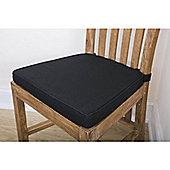 linen Seat Pad Cushion Black