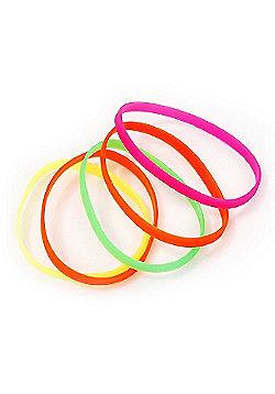 Stretchy Neon Rubber Bracelet Set