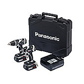Panasonic EYC 211 LS2F Impact Wrench & Drill Driver Twinpack 14.4 Volt 2 x 4.2Ah Li-ion
