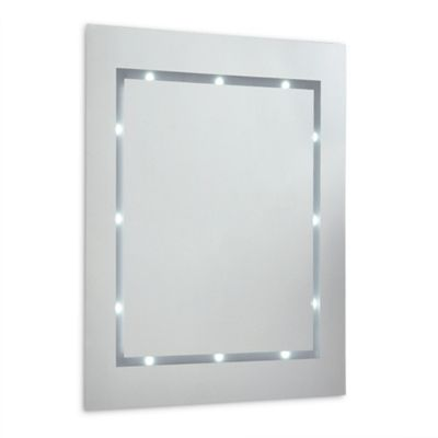 IP44 Battery Powered Illuminated LED Bathroom Mirror