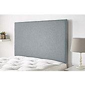 Aspire Furniture Derwent Headboard in Malham Weave Fabric - Sky - Double 4ft6