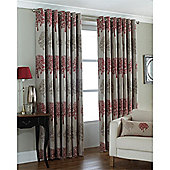Riva Home Oakdale Eyelet Curtains - Red
