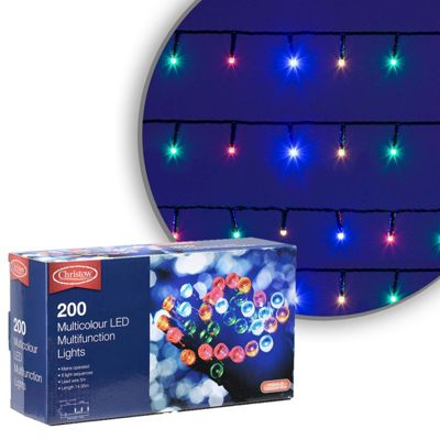 200 LED Multi-Coloured Chaser Christmas Lights