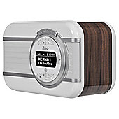 VQ Christie Vintage DAB+ Digital Radio and Wireless NFC Bluetooth Speaker - Walnut Brown
