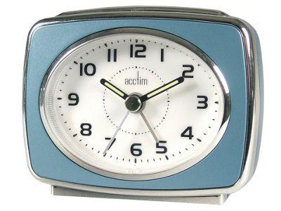 Acctim 13879 Retro 2 Alarm Clock Blue