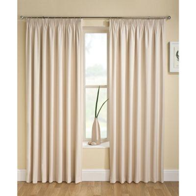 Enhanced Living Tranquility Cream Pencil Pleat Curtains - 66x72 Inches (168x183cm)