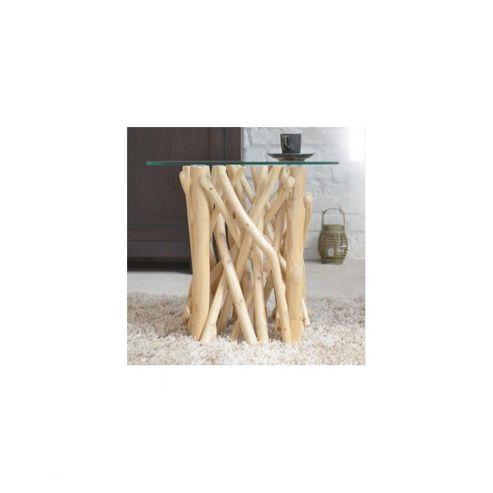 Tikamoon Bois Flotte Teak End Sofa Table