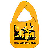 Dirty Fingers I'm the Goddaughter future head of the family Bib Yellow