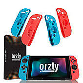 Orzly Nintendo Switch FlexiCases QUAD PACK (Red & Blue)
