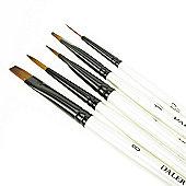 Daler Simply All Purpose Brush Set - Blue Wallet 26