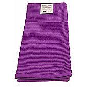Now Designs Single Ripple Kitchen Tea Towel, Prince Purple