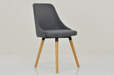 Malmo Charcoal Grey Fabric Dining Chair