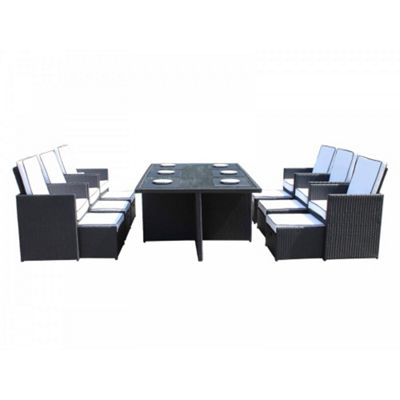 Barcelona 7 Piece Cube Set in Black and Vanilla