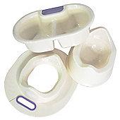 Baby - Toilet Training + Wash Set - Ivory / Lilac