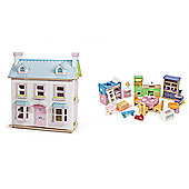 Le Toy Van Mayberry Manor and Starter Furniture Bundle