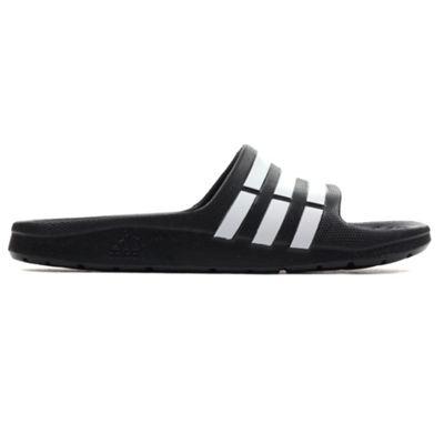 adidas Duramo Slide Kids Flip Flop Sandal Black/ White - UK 13