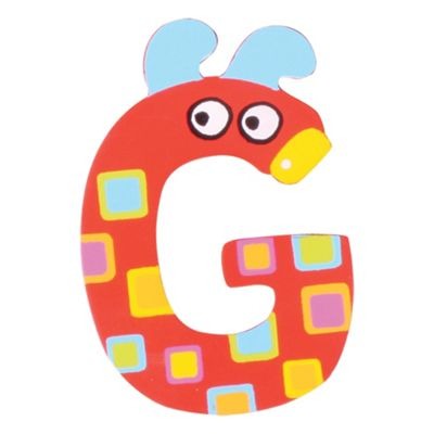 Tatiri Crazy Animals Letter G (Red Dog)