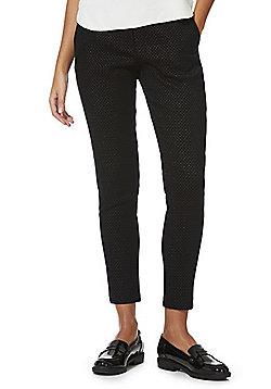 F&F Metallic Jacquard Skinny Trousers - Black