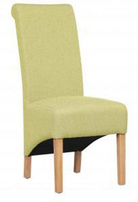 Shankar Krista Herringbone Lime Fabric Chair