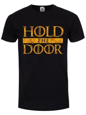 Hold The Door Men's T-shirt, Black.