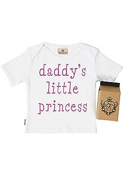 Spoilt Rotten - Daddy's Little Princess Baby & Toddler T-Shirt in Milk Carton - White