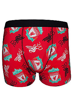 Liverpool FC Mens Boxer Shorts - Red