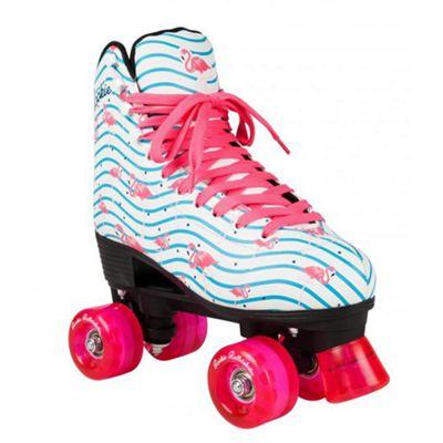 Rookie Flamingo Quad Roller Skates - White/Multi UK 1