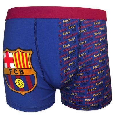 FC Barcelona Mens Boxer Shorts Blue Medium