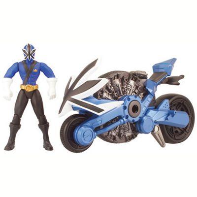 Power Rangers Samurai Disc Cycle and 10cm Figure - Blue