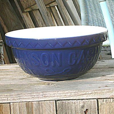 Mason Cash Varsity 24cm Blue Mixing Bowl