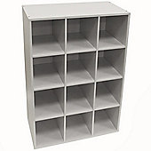 Pigeon Hole - Shoe Storage / Display / Media Shelves - White
