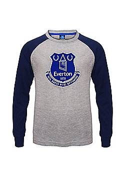 Everton FC Kids Long Sleeve T-Shirt - Grey