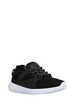F&F Mesh Upper Lace-Up Trainers - Black