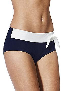 Marie Meili Colour Block Bikini Briefs - Blue