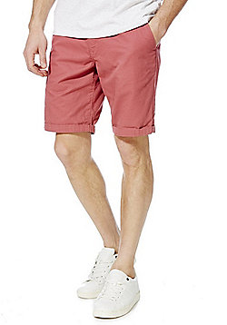 F&F Turn-Up Chino Shorts - Pink
