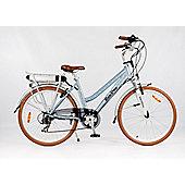 RooDog Polka Dot Electric Bike 10Ah Step Through Blue Frame